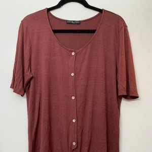Front-tie Casual Blouse